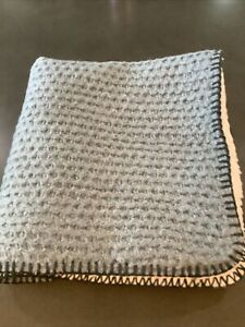 """pottery barn thermal sherpa pillow cover 24"""" heathered chambray #1599"""