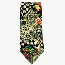 NICOLE MILLER 100% Silk Tie Geometric Print