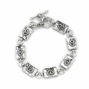 Hand Made Aviv Jewellery Sterling T Bar Bracelet ASB348