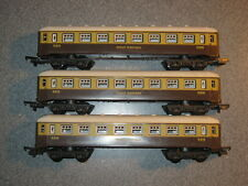 3 Lima HO Gauge GWR Brown & Cream Composite Coaches