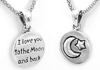 Sterling Silver I Love You to the Moon and Back Charm Pendant from Taxco Mexico