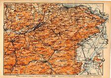 Carta geografica antica SVIZZERA St. Gallen Old Map Switzerland Suisse 1905