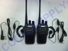 Ear Headset & Two Way Radio Walkie Talkie Package for Restaurant Retail Bar Club