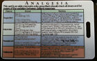 medical medicine or nursing reference card - analgesia drug regimens pain relief