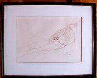Fine Art Original  Drawing Female  Nude, Betty Klavon, signed