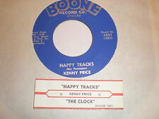 Kenny Price 45 The Clock BOONE WITH JUKE BOX STRIP