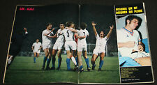 Football Poster OM Marseille v Ajax cruyff coupe Europe 1/16° finale 1971