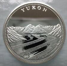CANADA 1867-1992 ANNIVERSARY 25¢ YUKON SILVER PROOF QUARTER COIN