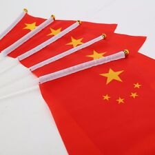 Cotton China CN ROC HELD STICK Small FLAGS Hand Table Flag Festivals Country CCP