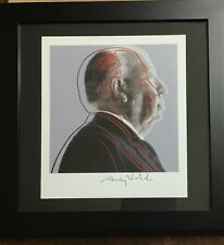 "Andy Warhol Hand Signed Print 1986 ""Alfred Hitchcock"" 100% Authentic  COA"
