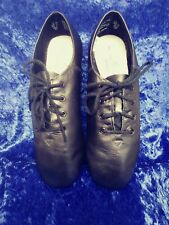 ABT Black Leather Lace Up Dance Shoes Size 7 American Ballet Theater Spotlights