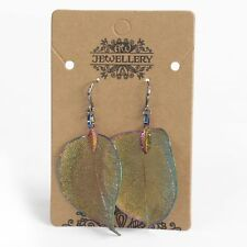 Brand new real leaf jewelry.  Earrings - Bravery Leaf - multicoloured