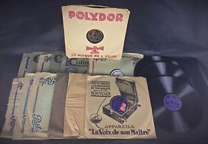 Lot 15 vinyles anciens classiques -  78 tours divers voir descriptif