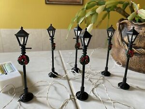 Dolls House 1.12 Christmas lights Lamps Street Wreaths Tested Battery Operated