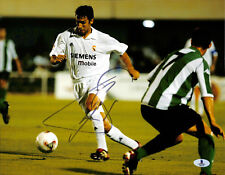 RAUL REAL MADRID GALACTICOS TEAM SIGNED AUTOGRAPHED 11X14 PHOTO BECKETT BAS