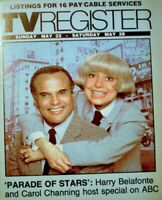 TV Guide 1983 Harry Belafonte Carol Channing Regional TV Register OC VG COA
