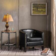 Modern Pu Leather Arm Chair Single Sofa Club Seat Furniture w/Cushion 3 Colors