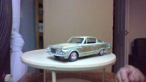 vintage promo built type model car screw bottom /rebuild ready 64/65 barracuda