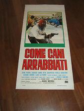 LOCANDINA,1976,COME CANI ARRABBIATI,Mario Imperoli.Grapputo Senatore,auto car
