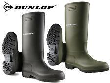 Dunlop Wellies Wellingtons Mens Womens High Calf Rain Muck Boots Shoes Size 3-13