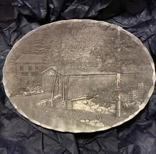 Handmade Wendell August Forge Covered Bridge Oval Dish