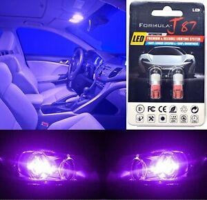 LED 5050 Light Purple 12000K 168 Two Bulb License Plate Replace Stock OE SMD JDM