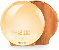 COULAX Wake Up Light Digital Alarm Clock with FM Radio 20 Brightness Settings