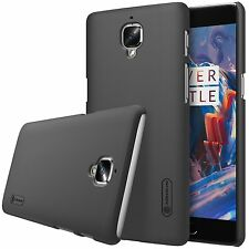 Genuine Nillkin Frosted Shield Black Hard Case Cover for OnePlus 3 / Three / 3T