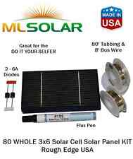 80 WHOLE 3x6 Solar Cell Solar Panel KIT Rough Edge USA
