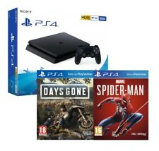 PS4 500GB SLIM BLACK F CHASSIS + DAYS GONE + SPIDERMAN - PLAYSTATION 4 HDR SONY