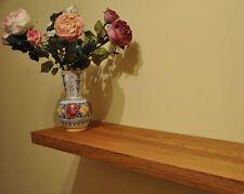 Solid Oak floating shelf with concealed brackets, wooden floating shelf