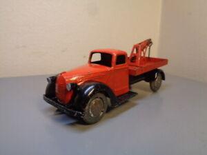 TEKNO DENMARK No 481 VINTAGE 1940'S FORD V8 TOW TRUCK METAL WHEELS ULTRA RARE VG