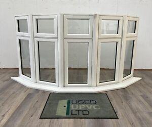 UPVC PVCU WINDOW-WHITE-BAY WINDOW-CASEMENT-NEW-DOUBLE GLAZED-PLASTIC-EXTERIOR