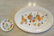 Adorable xlg Ursula Dodge Signature Margarita Serving Tray & 1 Salt Plate / dish