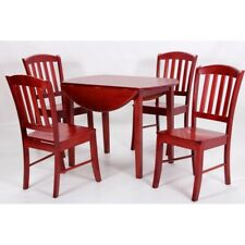 🔥TRADITIONAL DROP LEAF MAHOGANY 4 SEATER DINING SET WITH SLATTED BACK CHAIRS🔥