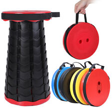 Portable Retractable Folding Camping Stool Telescopic Seat Chair for Fishing BBQ