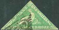 CAPE OF GOOD HOPE-1863-64  1/- Bright Emerald Green Sg 21 GOOD USED V26248