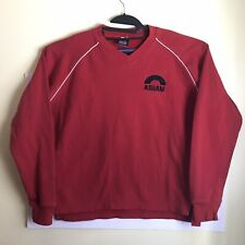 Asham Curling Supplies Sweater Logo Spellout size medium Red
