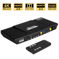 TESmart 4 input 1 output 4 Port HDMI Switch Switcher Support 4K@60Hz HDCP HDR