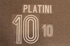 Flocage PLATINI n°10 en feutrine pour maillot équipe de France bleu patch shirt