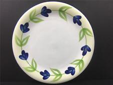 DAN143 by Dansk Dinner Plate Blue Flowers Green Leaves On Green Ring L52