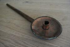 19th Country naive folk art copper long handled cellar-mans chamberstick
