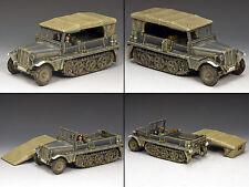 KING & COUNTRY WW2 GERMAN ARMY WS229 SD. KFZ. 10 AUSF. DEMAG HALF TRACK MIB