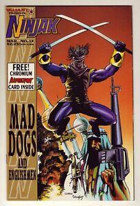 Ninjak #13 - Mar 1995 Valiant - Chromium Bloodshot card inside - Near Mint (9.4)