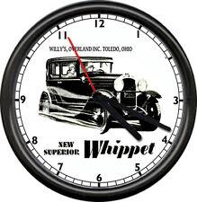 Whippet Overland Toledo Ohio Auto Sales Service Parts Dealer Sign Wall Clock