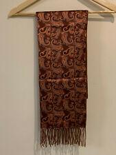 Brioni Ornate 100% Cashmere Silk, Orange, From Harrods RRP £400, Fringe Scarf