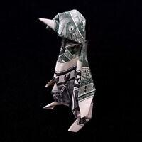 Origami 3D Sculpture PENGUIN Statue Money Mini Figurine Real 1 Dollar Bill Decor