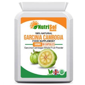 Garcinia Cambogia Whole Fruit 500mg 90 Capsules Vegan Weight Loss Supplement