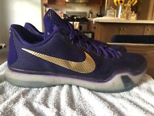 promo code ba7b5 b777a Nike Kobe X Low NIKEID Size 10 Purple Gold Lakers Mamba XI VIII IV V