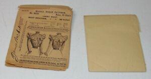 ANTIQUE VICTORIAN Sewing Pattern MCCALL BAZAR No 5070 LADIES WAIST Blouse